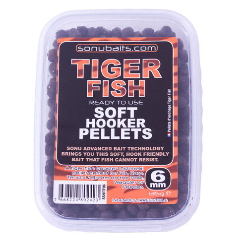 Sonubaits Soft Hooker Pellets Tiger Fish - 6mm - 135g