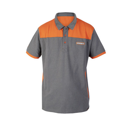 Sonubaits Poloshirt grau/orange
