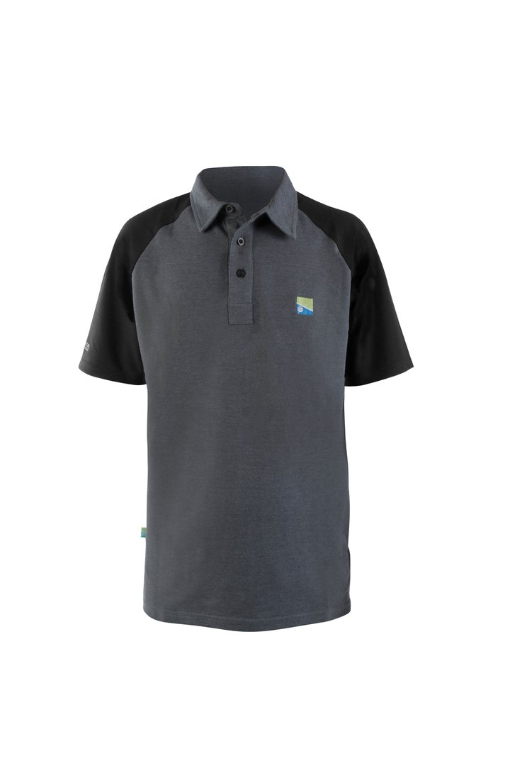 Preston Polo Shirt - Grey/Black
